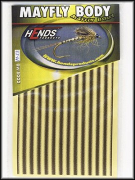 Hends Mayfly Body Medium 22 YellowCream/Brown