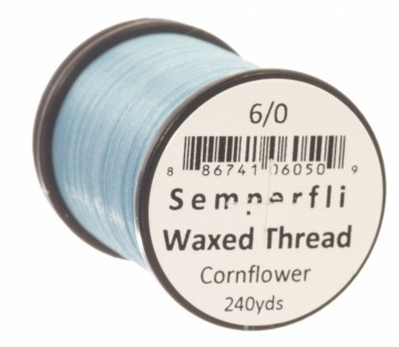 Semperfli bindetråd Classic Waxed 6/0 cornflower