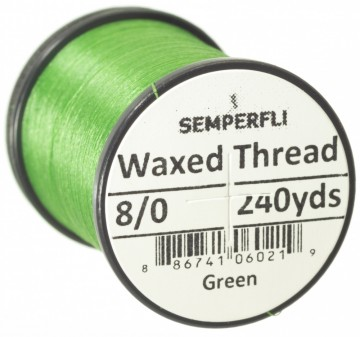 Semperfli bindetråd Classic Waxed 8/0 green