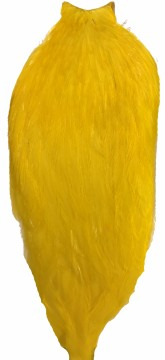 Whiting American Rooster Cape white dyed yellow