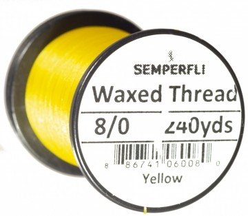 Semperfli bindetråd Classic Waxed 8/0 yellow