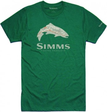 Simms Fire Hole Trout Dark Teal Heather