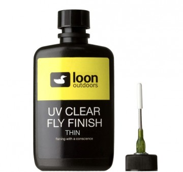Loon UV Clear Fly Finish Thin - stor flaske