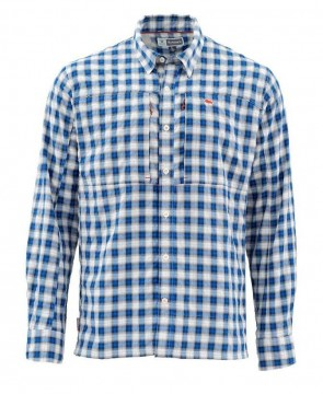 Simms Bugstopper Shirt Admiral Blue Plaid