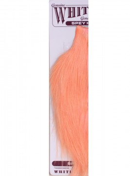 Whiting Spey Rooster 1/2 Cape Bronze Salmon Pink