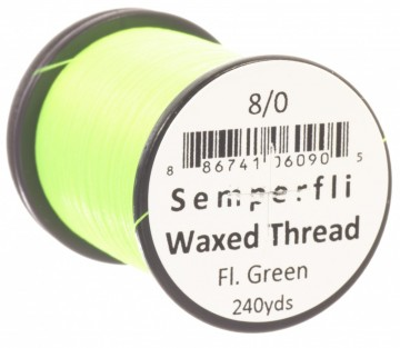 Semperfli bindetråd Classic Waxed 8/0 fluoro green