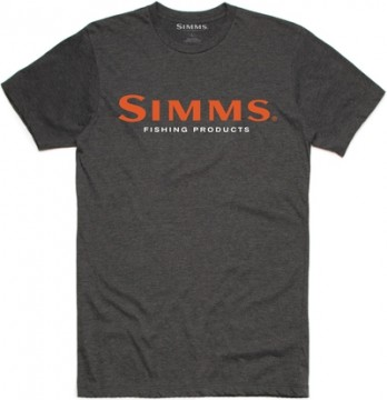 Simms Logo T-skjorte Charcoal heather