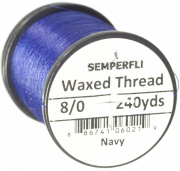 Semperfli bindetråd Classic Waxed 8/0 navy