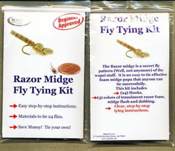 Razor midge fly tying kit