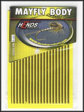 Hends Mayfly Body Small 62 Yellow/Brown