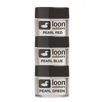 Loon fly tying powder flash