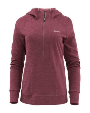 Simms Women Bugstopper Hoody Garnet Heather