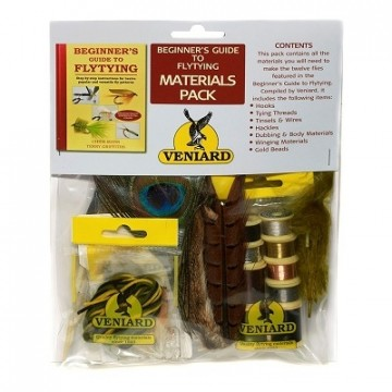 Veniard Beginners Guide to Fly Tying Materials Pack