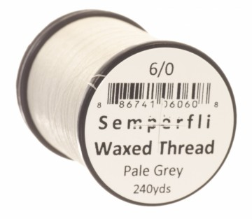 Semperfli bindetråd Classic Waxed 6/0 pale grey