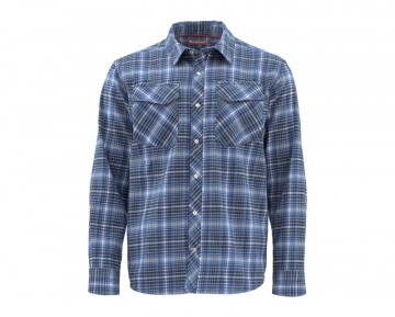Simms Gallatin Flannel Rich Blue Plaid