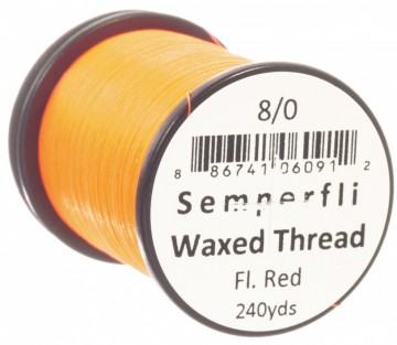 Semperfli bindetråd Classic Waxed 8/0 fluoro red