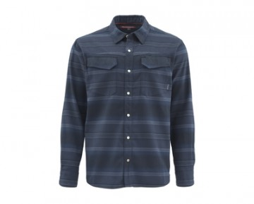 Simms Gallatin Flannel Admiral Blue Stripe