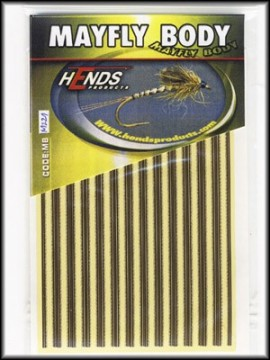 Hends Mayfly Body Medium 221 YellowCream/Brown/Gold