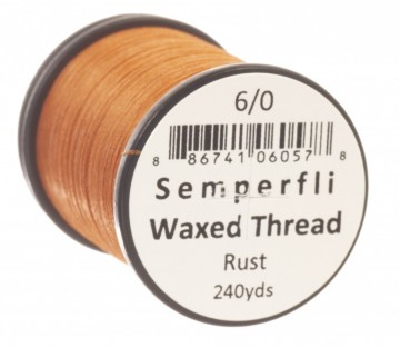 Semperfli bindetråd Classic Waxed 6/0 rust