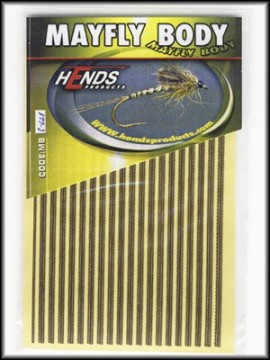 Hends Mayfly Body Small 221 YellowCream/Brown/Gold