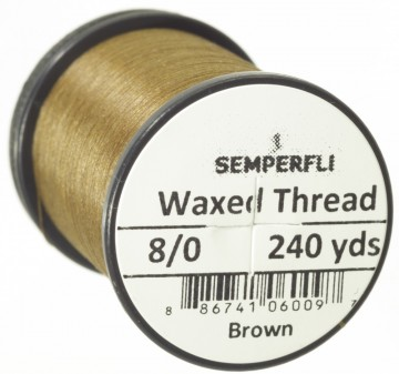 Semperfli bindetråd Classic Waxed 8/0 brown