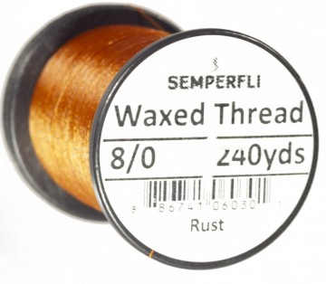 Semperfli bindetråd Classic Waxed 8/0 rust
