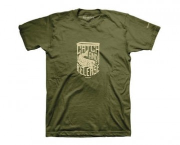 Simms Hackett Rocker T-Shirt Charcoal Heather
