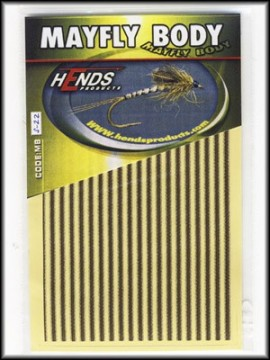 Hends Mayfly Body Small 22 YellowCream/Brown