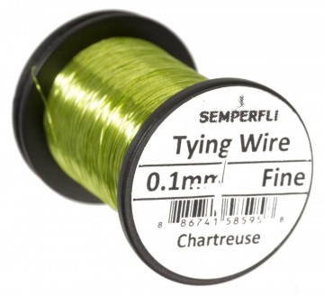 Semperfli wire 0.1mm Chartreuse
