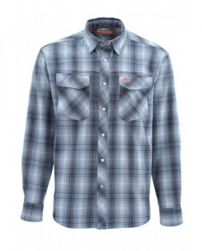 Simms Gallatin Flanel Shirt Dark Moon Plaid