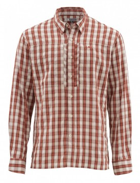 Simms Bugstopper Shirt Rusty Red Plaid