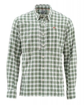 Simms Bugstopper Shirt Kelp Plaid