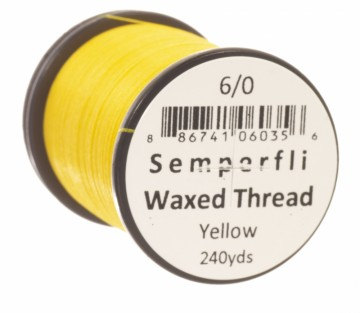 Semperfli bindetråd Classic Waxed 6/0 yellow