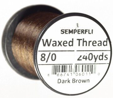Semperfli bindetråd Classic Waxed 8/0 dark mocha brown
