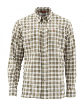Simms BugStopper Shirt Plaid Cork