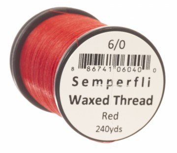Semperfli bindetråd Classic Waxed 6/0 red