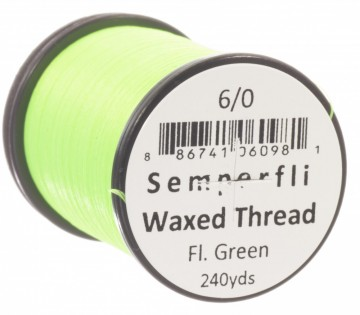 Semperfli bindetråd Classic Waxed 6/0 fluoro green