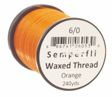 Semperfli bindetråd Classic Waxed 6/0 orange