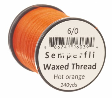Semperfli bindetråd Classic Waxed 6/0 hot orange