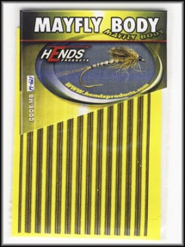 Hends Mayfly Body Medium 621 Yellow/Brown/Gold