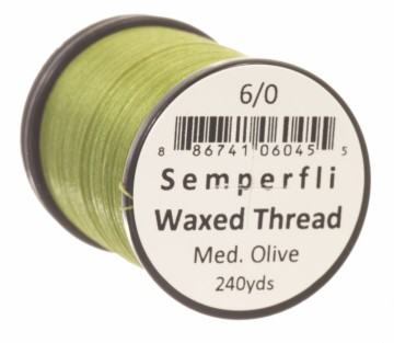 Semperfli bindetråd Classic Waxed 6/0 medium olive