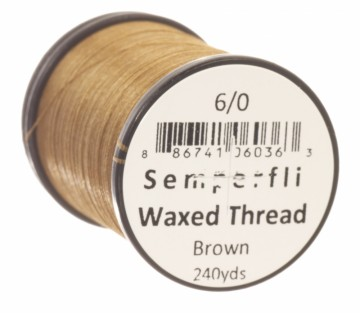 Semperfli bindetråd Classic Waxed 6/0 brown