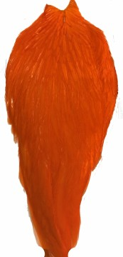 Whiting American Rooster Cape white dyed orange
