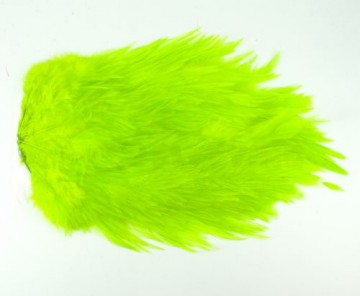 Whiting 4B rooster saddle fluor chartreuse
