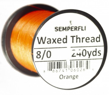 Semperfli bindetråd Classic Waxed 8/0 orange