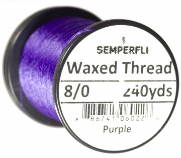 Semperfli bindetråd Classic Waxed 8/0 purple