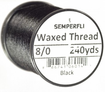 Semperfli bindetråd Classic Waxed 8/0 black