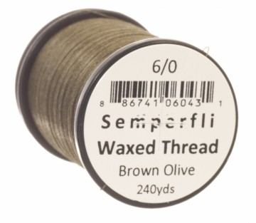 Semperfli bindetråd Classic Waxed 6/0 brown olive