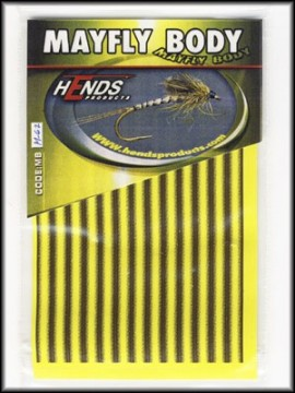 Hends Mayfly Body Medium 62 Yellow/Brown